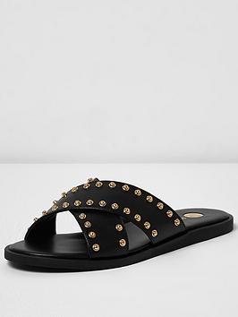 river-island-studded-slider-sandal