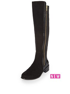 river-island-fearn-zip-side-boot