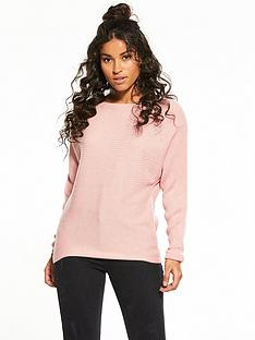 v-by-very-rib-batwing-jumper-blush