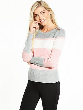 v-by-very-colour-block-button-detail-jumper