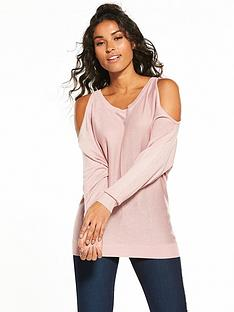 v-by-very-cold-shoulder-batwing-jumper-dusky-pink