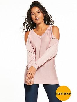 v-by-very-cold-shoulder-batwing-jumper-dusky-pink