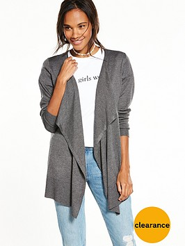 v-by-very-drape-front-waterfall-cardigan-charcoal