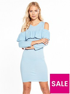 v-by-very-frill-cold-shoulder-jumper-dress