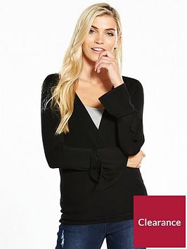 v-by-very-drape-crossover-tie-sleeve-jumper
