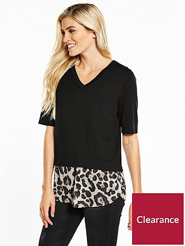v-by-very-half-sleeve-2-in-1-jumper-black