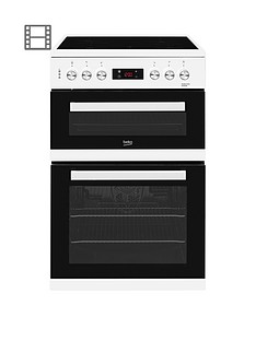 Beko KDC653W 60cm Electric Cooker with Ceramic Hob and Connection - White