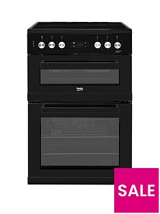 Beko KDC653K 60cm Electric Cooker with Ceramic Hob and Connection - Black
