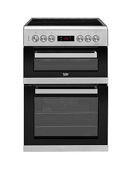 Beko Kdc653S 60Cm Electric Cooker With Ceramic Hob - Silver Best Price, Cheapest Prices
