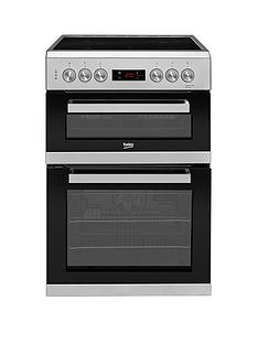 Beko KDC653S 60cm Electric Cooker with Ceramic Hob and Connection - Silver