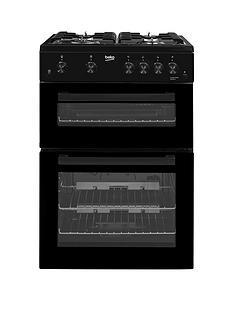beko-kdg611k-60cm-gas-cooker-with-full-width-gas-grill-black