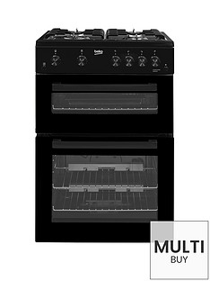 beko-kdg611k-60cm-gas-cooker-with-full-width-gas-grill-and-connection-black