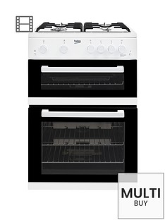 beko-kdg611w-60cm-gas-cooker-with-full-width-gas-grill-white