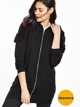 v-by-very-long-sleeve-ruffle-detail-longline-hoodienbsp--blacknbsp