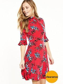 v-by-very-short-sleeve-tea-dress