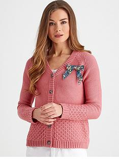 joe-browns-cosy-knit-bow-cardigan-pink