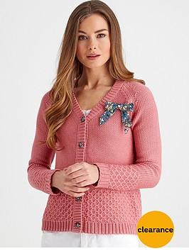 joe-browns-cosy-knit-bow-cardigan-pink