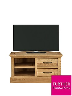 Luxe Collection - Kingston 100% Solid Wood Ready Assembled Corner TV Unit - fits up to 32 Inch TV
