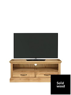 Luxe Collection Kingston 100% Solid Wood Ready Assembled Wide TV Unit - fits up to 50 inch TV