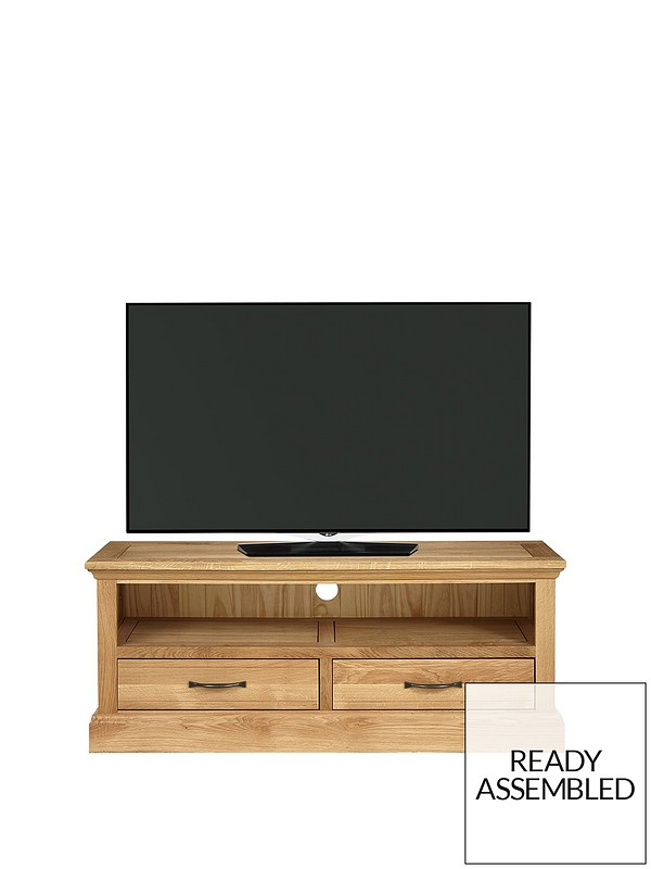 Luxe Collection Kingston 100 Solid Wood Ready Assembled Wide Tv Unit Fits Up To 50 Inch Tv Very Co Uk