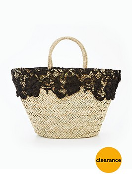 v-by-very-lace-straw-beach-bag