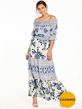 v-by-very-shirred-top-bardot-maxi-dress