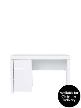 arctic-high-gloss-desk-with-led-strip-lights