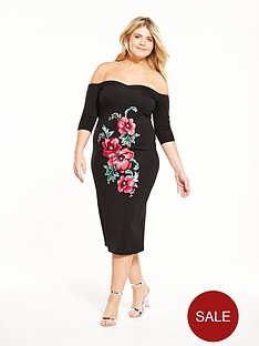 v-by-very-curve-curve-embroidered-sweetheart-bodycon-dress-black
