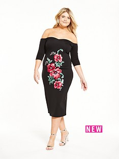 v-by-very-embroidered-sweetheart-body-con-dress