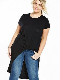 so-fabulous-curve-knot-front-longline-t-shirt-black