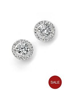 love-silver-sterling-silver-cubic-zirconia-halo-style-stud-earrings