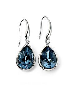 elements-silver-elements-sterling-silver-rhodium-plated-blue-swarovski-crystal-teardrop-hook-earrings
