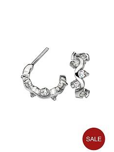 love-silver-sterling-silver-cubic-zirconia-wavy-hoop-earring