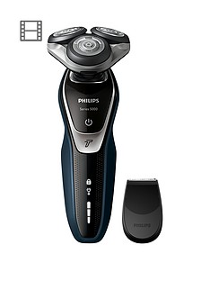 philips-series-5000-wet-amp-dry-mens-electric-shaver-s536006-with-turbo-mode-amp-precision-trimmer