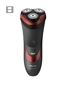 Philips Series 3000 Wet & DryMen's Electric Shaver S3580/06 with Pop Up Trimmer