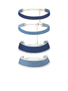 v-by-very-denim-4-pk-choker-set