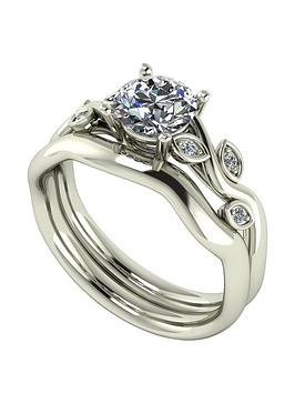 moissanite-moissanite-9ct-gold-105ct-total-round-brilliant-centre-vine-bridal-set