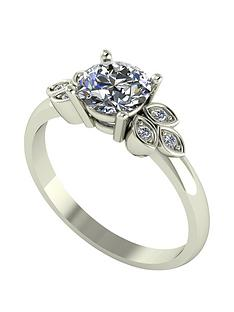 moissanite-moissanite-9ct-gold-107ct-eq-leaf-cluster-solitaire-ring