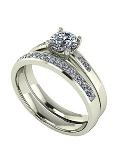 moissanite-moissanite-9ct-gold-1ct-total-round-brilliant-centre-bridal-set