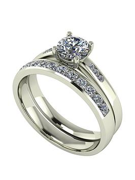 moissanite-moissanite-9ct-gold-1ct-total-round-brilliant-centre-bridal-set