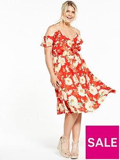 v-by-very-curve-print-midi-dress