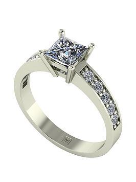 moissanite-premier-collection-9ct-gold-105ctnbsptotal-princess-cutnbspsolitaire-ring