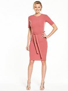 v-by-very-tie-waist-bodycon-midi-dress