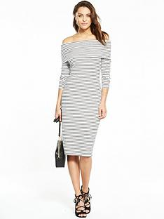 v-by-very-bardot-stripe-midi-dress