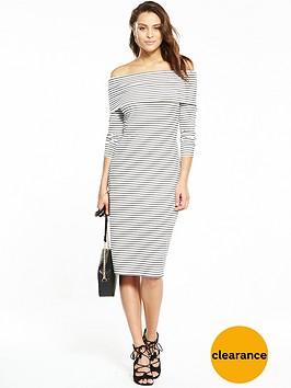 v-by-very-bardot-stripe-midi-dress