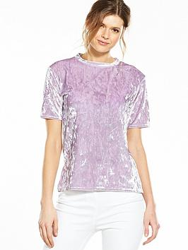 v-by-very-velour-short-sleeve-top