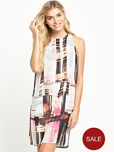 french-connection-cornell-sheer-sleevelessnbspshift-dress