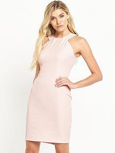 french-connection-modern-kantha-crepe-halter-neck-dress-blush