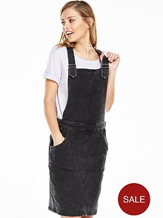 noisy-may-brandy-denim-overall-dress