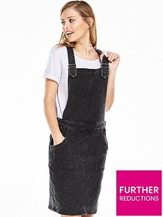 noisy-may-brandy-denim-overall-dress
